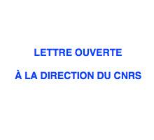 Lettre des directeurs d'unités adressée à la direction du CNRS
