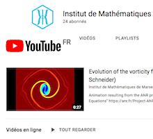 Retrouvez les vidéos des chercheurs de l'I2M sur sa nouvelle chaîne Youtube !