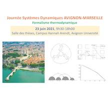 La Journée Systèmes Dynamiques AVIGNON-MARSEILLE se tiendra le mercredi 23 juin 2021, à Avignon