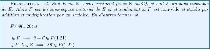 Famille generatrice sous espace vectoriel